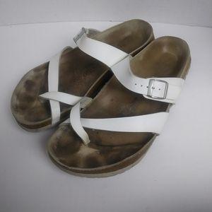 Birkenstock Papillo White Cross Strap Sandals. 11